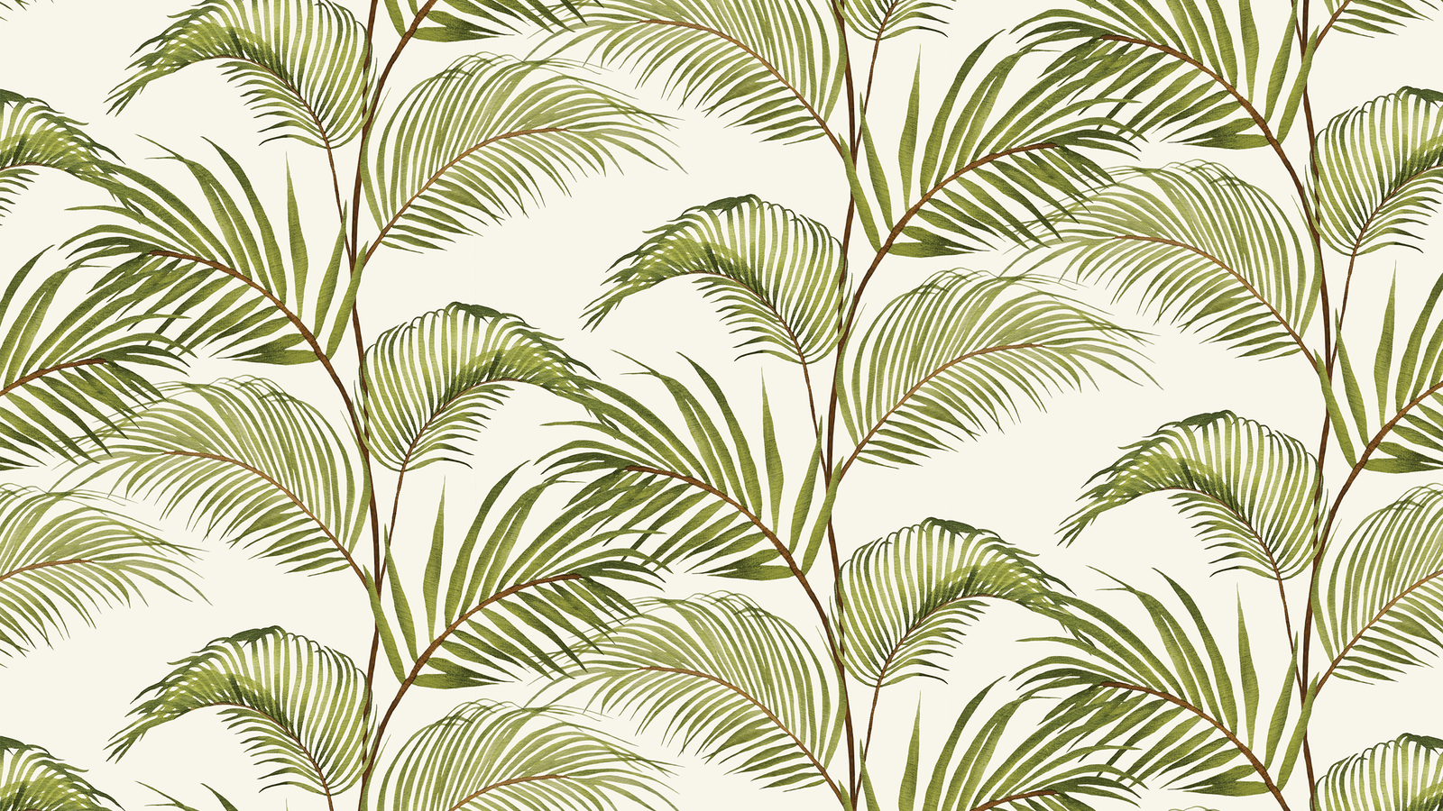 Lick x Belinda Bayley Jungle 03 white and green palm leaf wallpaper