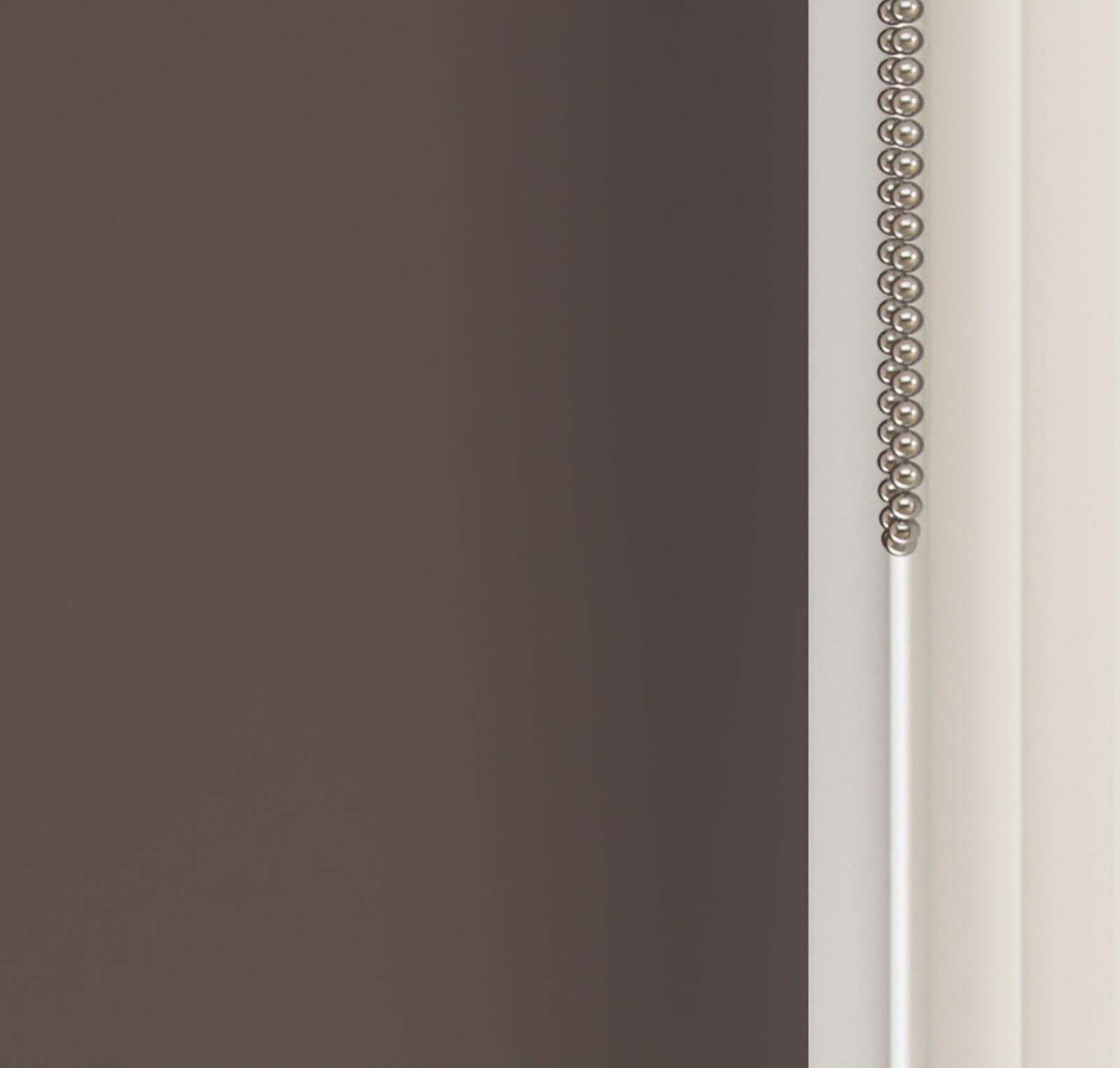 Close up view of Lick Brown 01 roller blinds