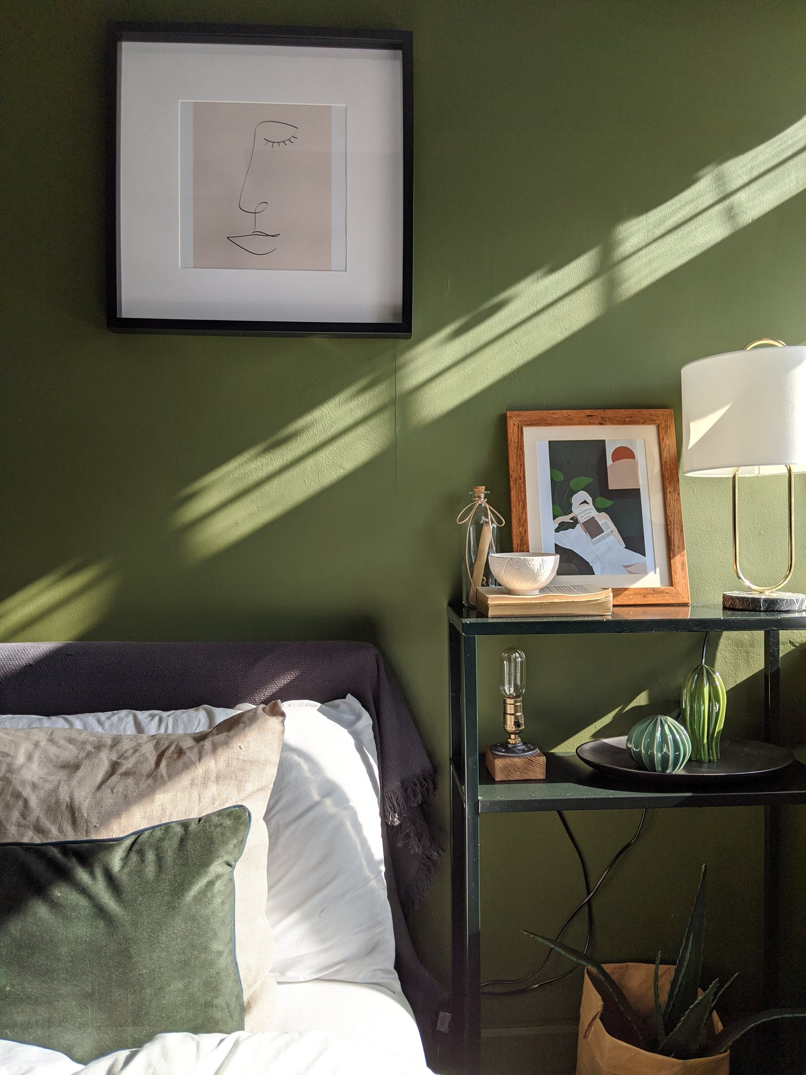 Bedroom painted in Lick Green 05