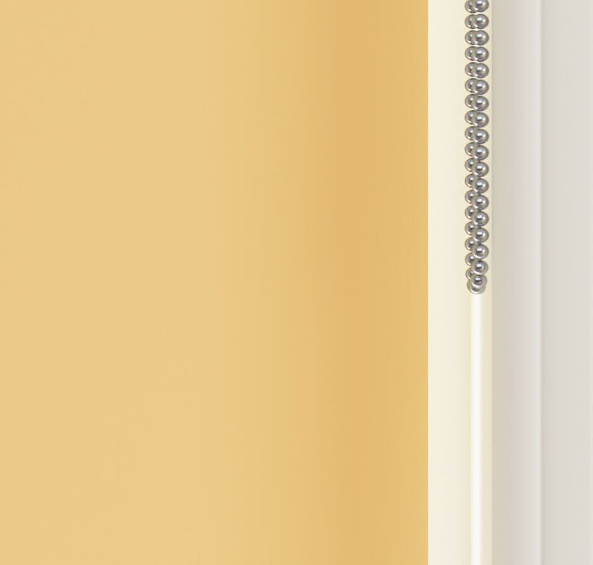 Close up view of Lick Yellow 01 roller blinds