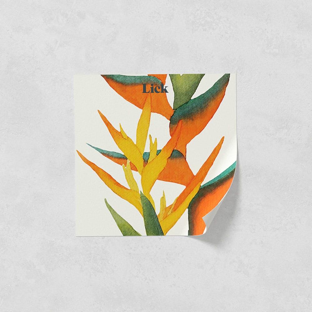Lick peel and stick wallpaper sample in Paradise Vine 01