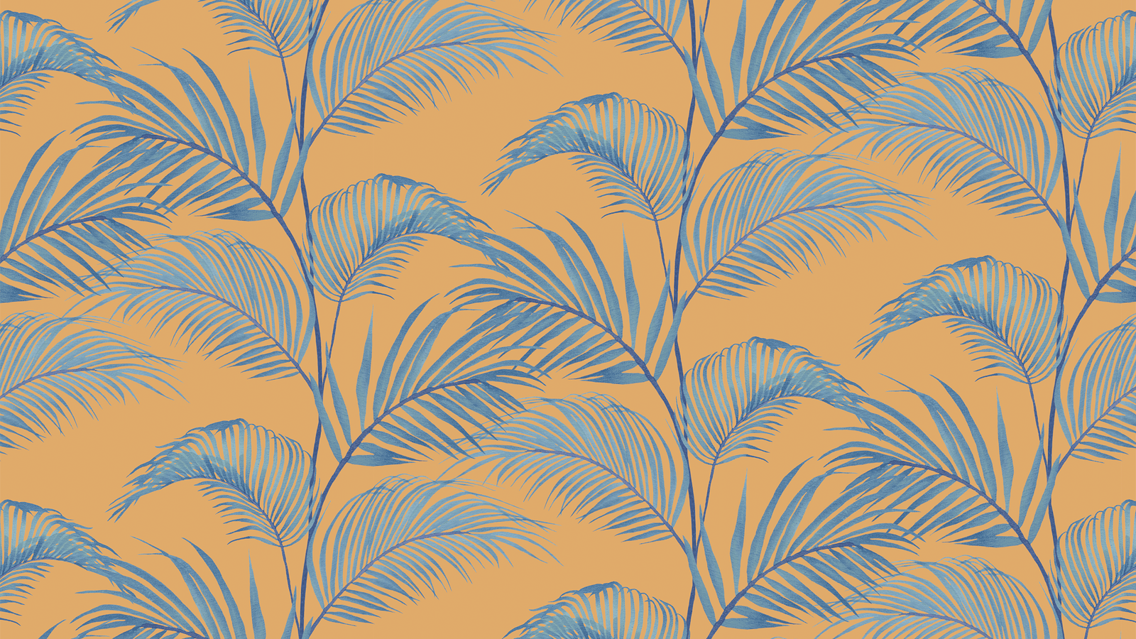 Lick x Belinda Bayley Jungle 01 orange palm leaf wallpaper