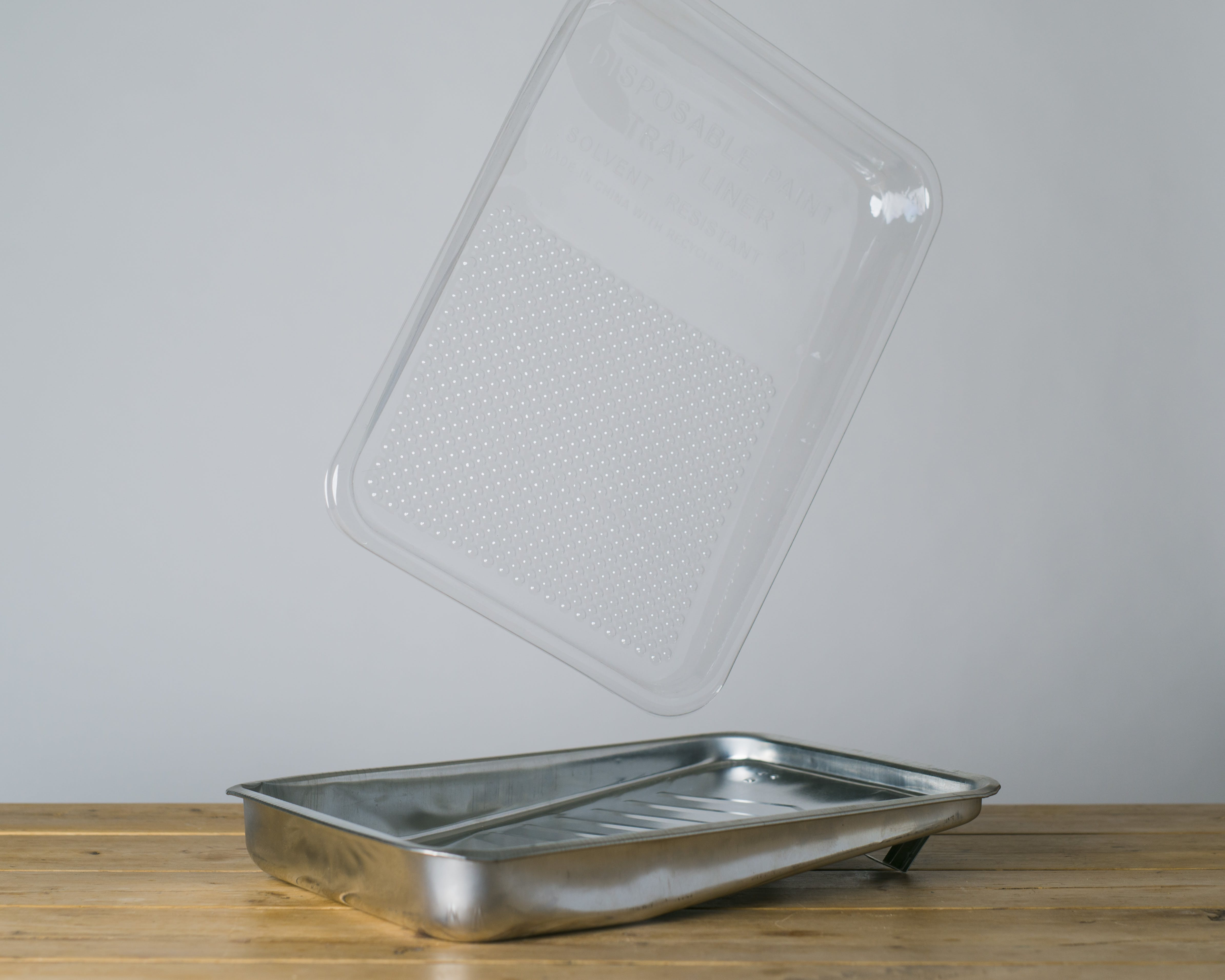 9inch Lick Metal Tray and plastic protector