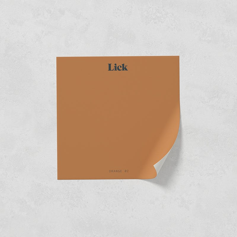 Lick peel and stick paint sample in Orange 02