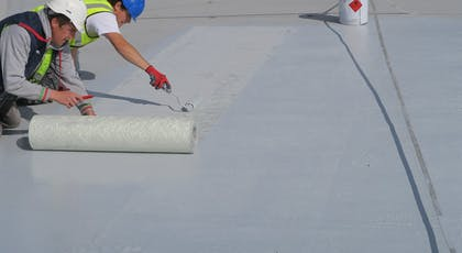Installation of chopped strand reinforcement into Liquasil DG embedment coat