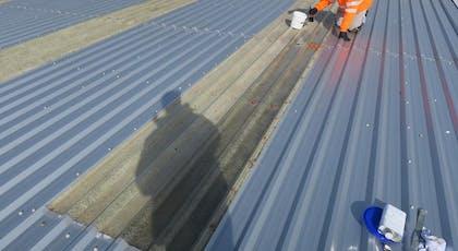 Installing GlazProetct GRP roof light coating