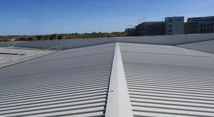 BBA Approved metal roof coating - Metalseal by Liquasil Ltd in Goosewing Grey