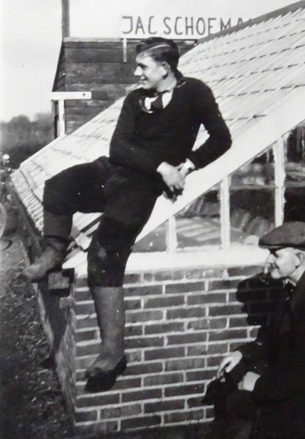 Herman Schoemaker at the Schoemaker nursery