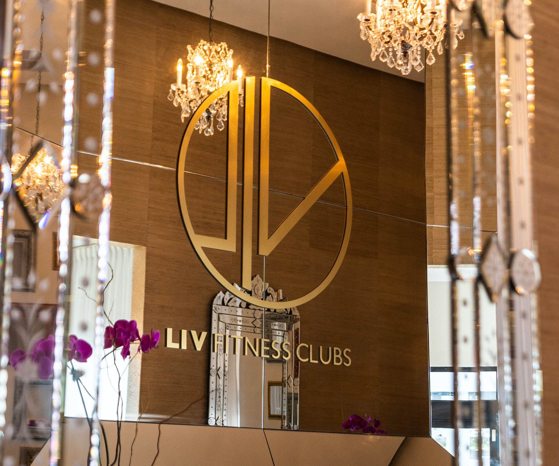 Luxury interior design of LIV Fitness Clubs in Guaynabo