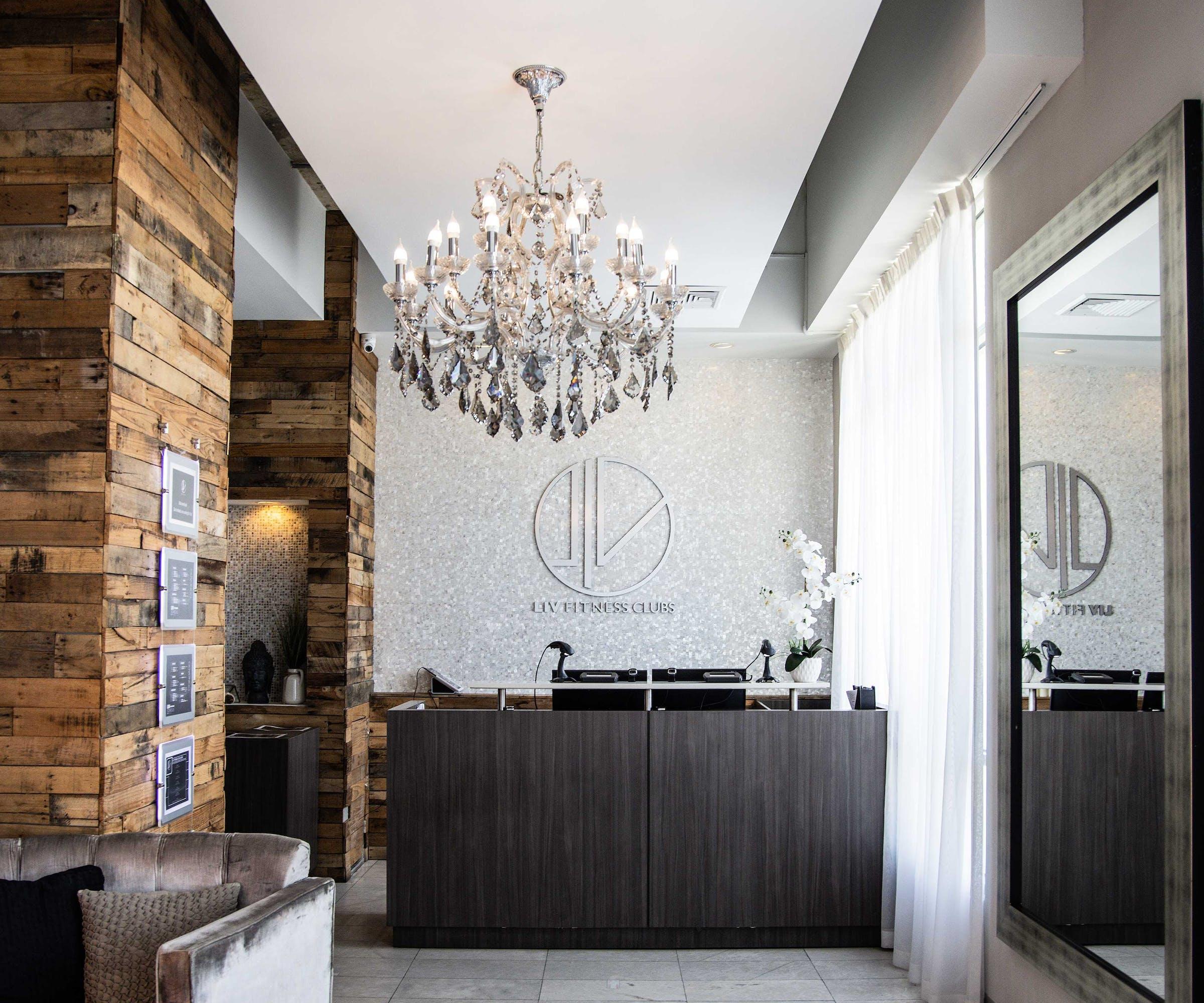 Luxury interior design of LIV Fitness Club in Condado