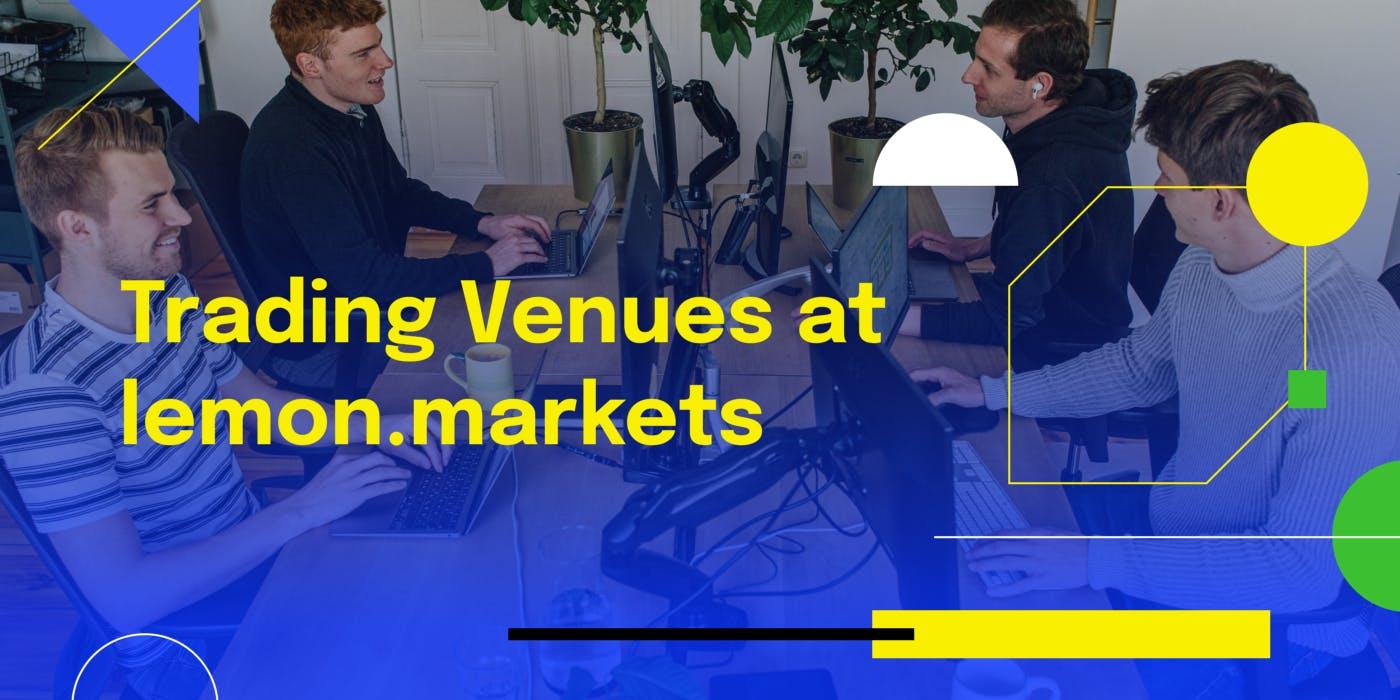 trading venues at lemon markets