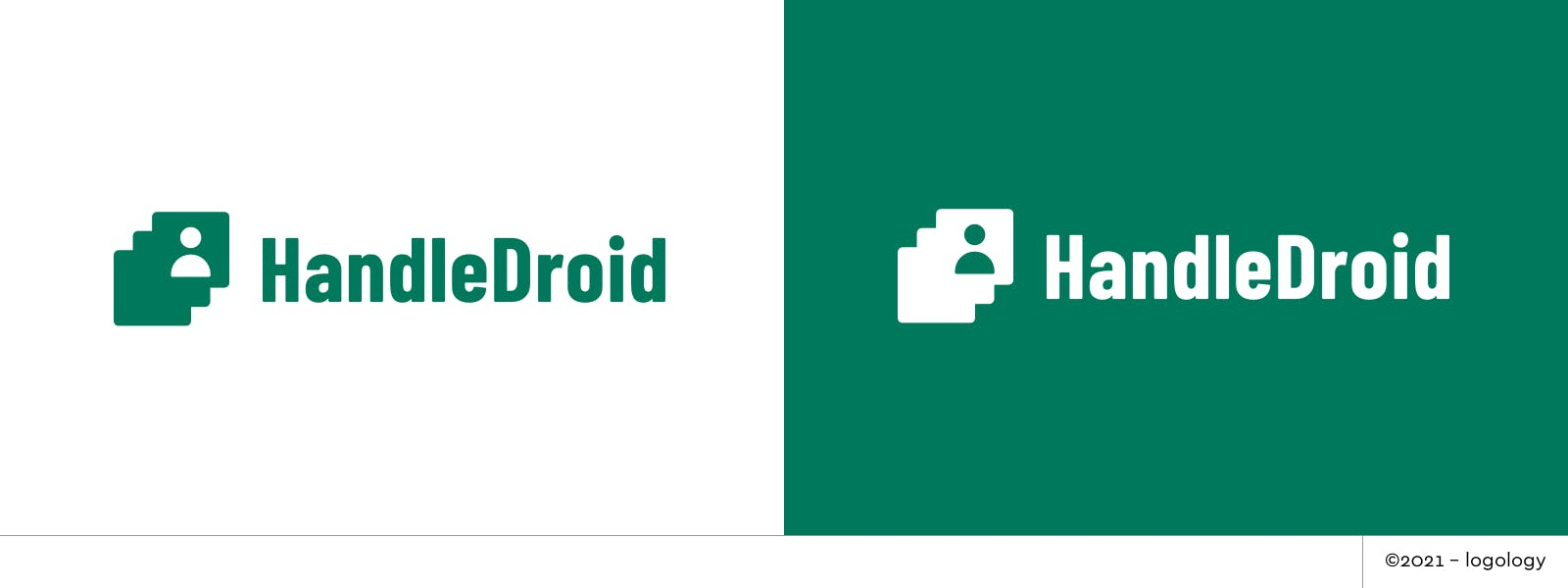 handledroid logo metled cards