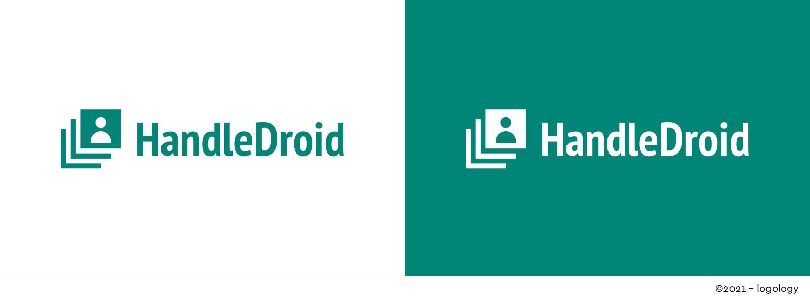 handledroid logo metled cards variation