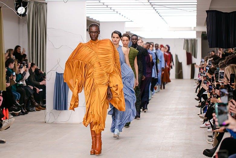 Richard Malone catwalk at London Fashion Week