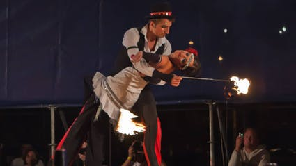 20s fireshow with tango and dance.