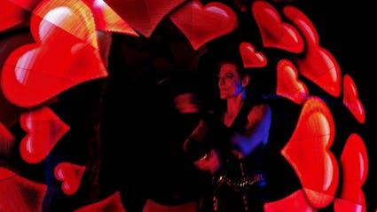 LED Show auf Hochzeit mit Funkenfinale.
