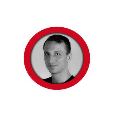 Black/white profile image of member François in a red circle.