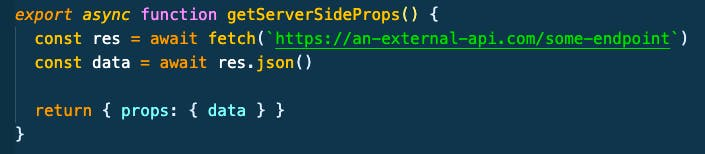 Next.js SSR using the getStaticProps function
