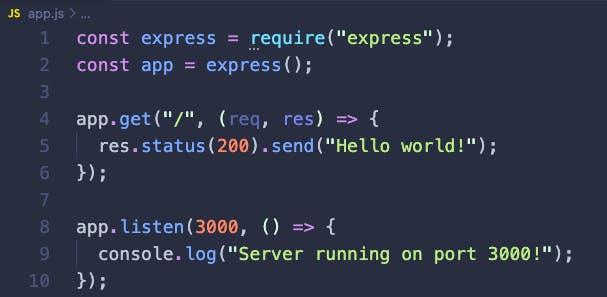Express.js server