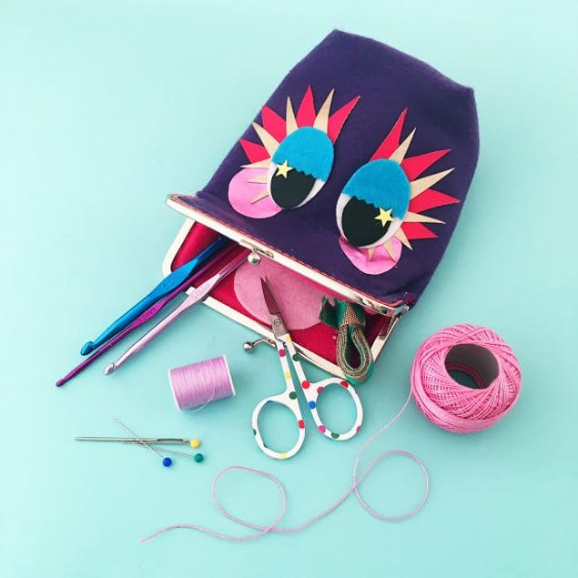 how to make a monster purse free tutorial by christine leech