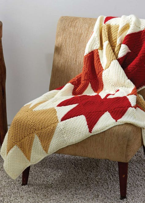 Autumn crochet afghan blanket