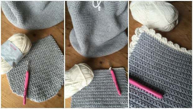 Crochet the front flap for your crochet bag