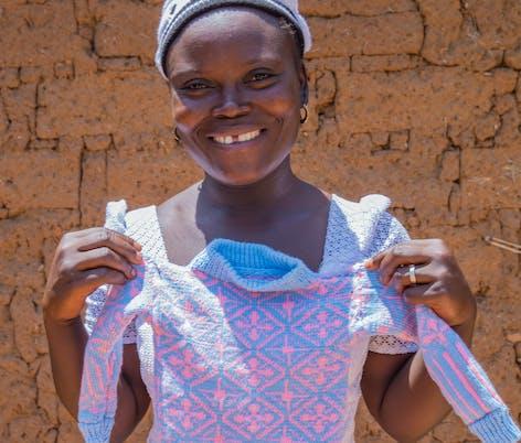 knitting for women's charities