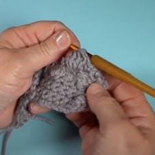 Bobble stitch step 5 - finish your bobble