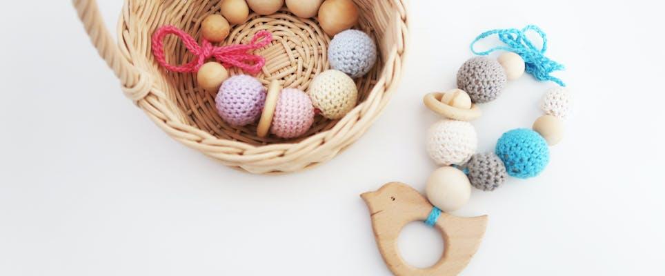 Spring Themed Crochet Beads Bracelet