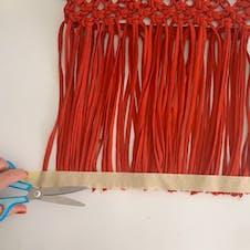 Step 18: Decide on tassel length