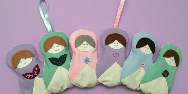 Russian doll lavender bags