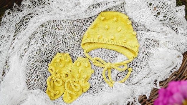 Popcorn knitting stitch