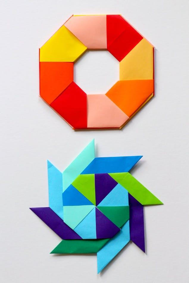 Transforming paper stars origami