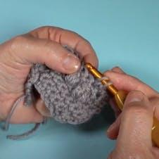 Bobble stitch step 1
