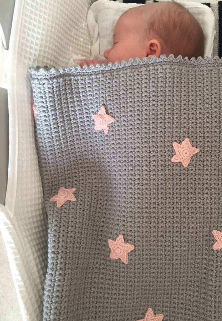 Your finished star crochet baby blanket