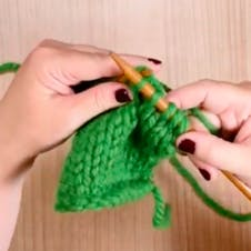 ssk: knit together