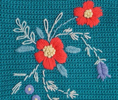 Eve cardigan embroidery