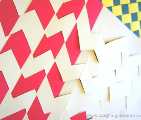 Paper weaving placemats