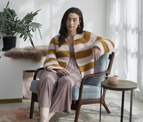 Debbie Bliss Zarah design in Merion yarn