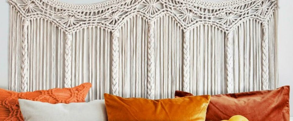 macrame bed head wall hanging