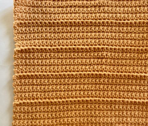 Crochet pumpkin fabric