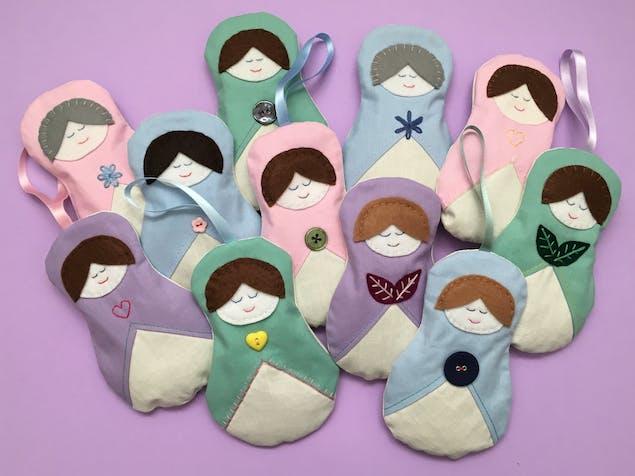 handmade Russian doll lavender sachets