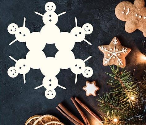 Snowman snowflake by Paper Snowflake Art