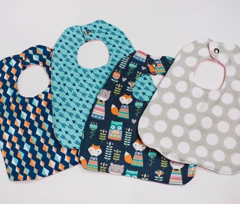 diy baby's first bib pattern