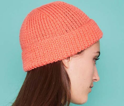 ribbed hat knitting pattern for beginners