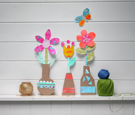 handmade cut out paper flowers for kids