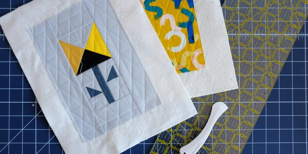 Add quilting guidelines to springtime DIY bag