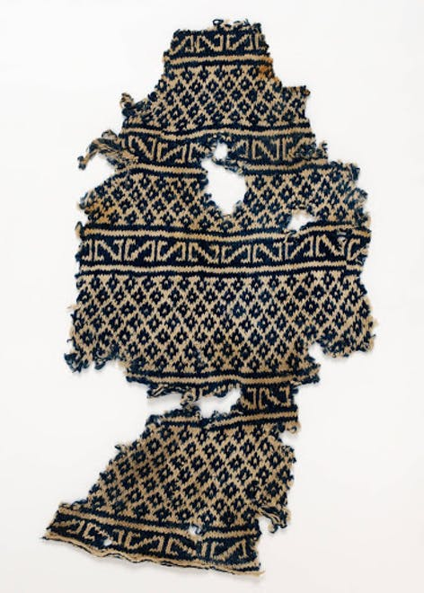 First stranded knitting from V&A, Image courtesy of V&A