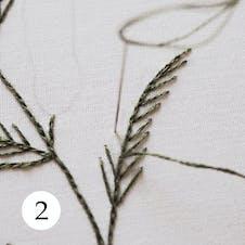 Mimosa pattern step 2