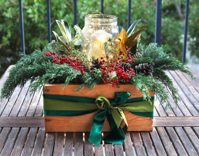 DIY Christmas craft for outside